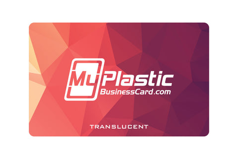 Translucent Plastic Business Cards