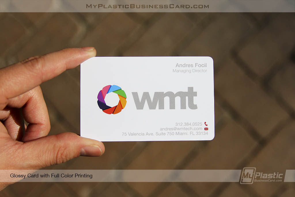 Glossy plastic business cards my plastic business card glossy plastic business cards reheart Image collections