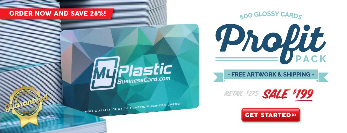 My Plastic Business Card Profit Pack
