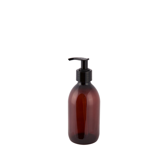 Pharmacy bottle with pump 300 ml brown