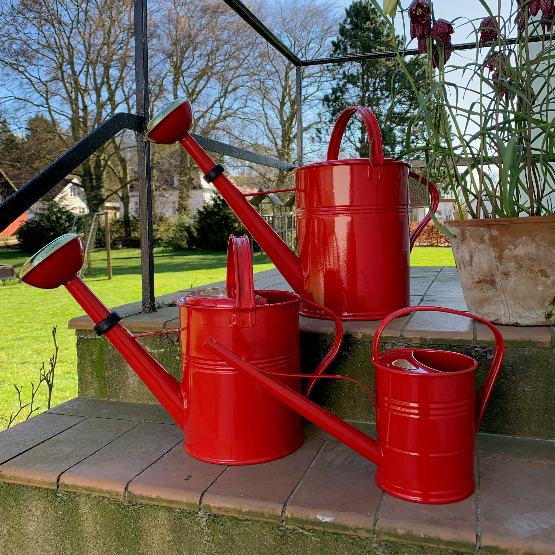 Watering can 1,5 liter red