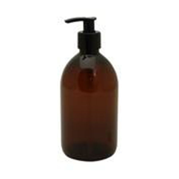 Pharmacy bottle with pump 500 ml brown