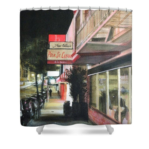 Polk St. Cleaner's - Shower Curtain