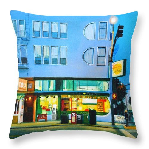 Valencia Blue - Throw Pillow