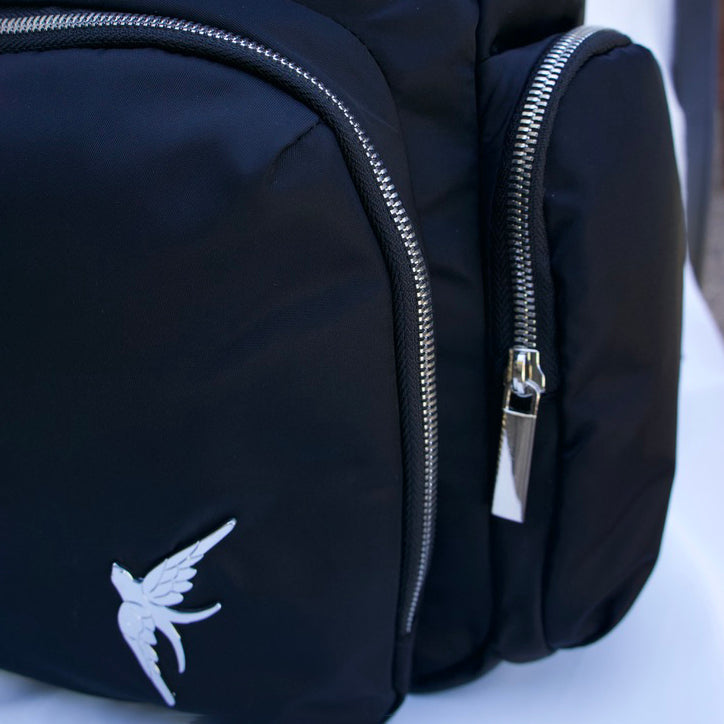 Laptop Backpack with the Cobalt Feathers Print