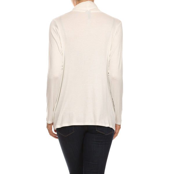 Draped Pocket Essential Cardigan
