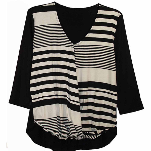 Variegated Stripe Twisted Front Top