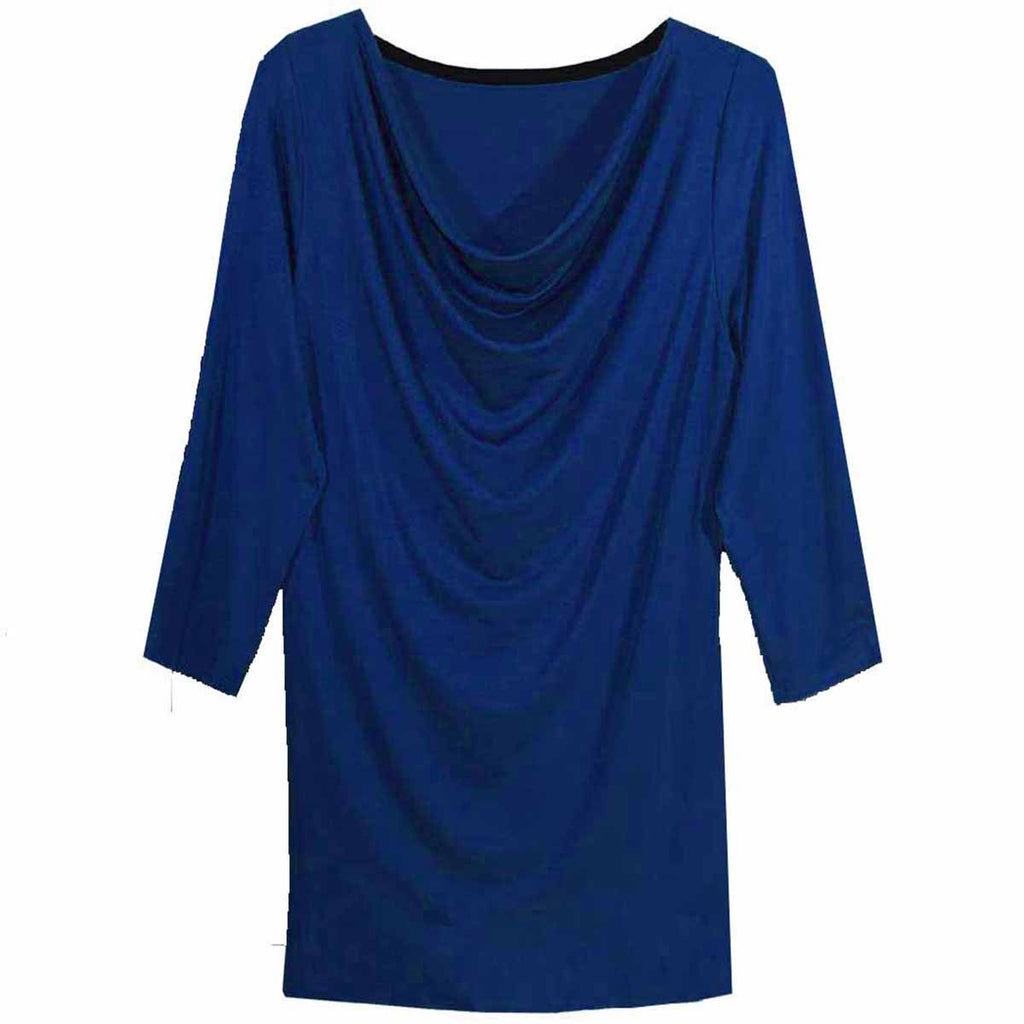 3/4 Sleeve Draped Neck Top