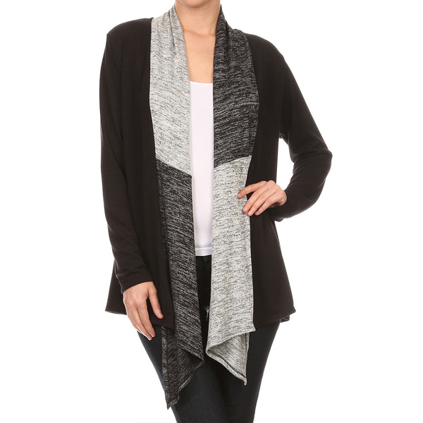 Space Dye Knit Scarf Cardigan