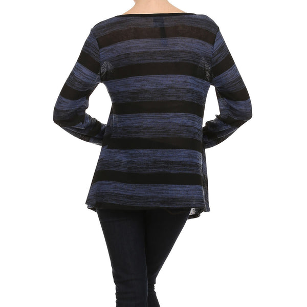 Stripe Sweater Knit Tunic