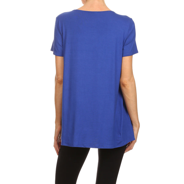 Shirred Front Essential S/S Top