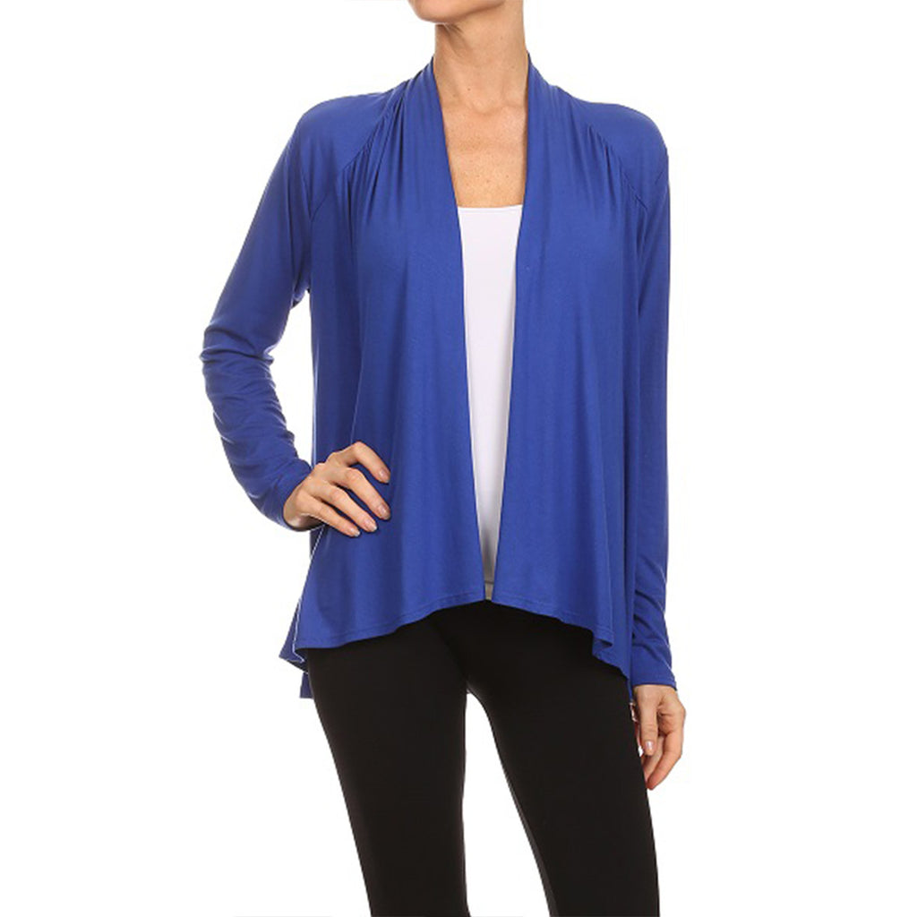 Shirred Shoulder Cardigan