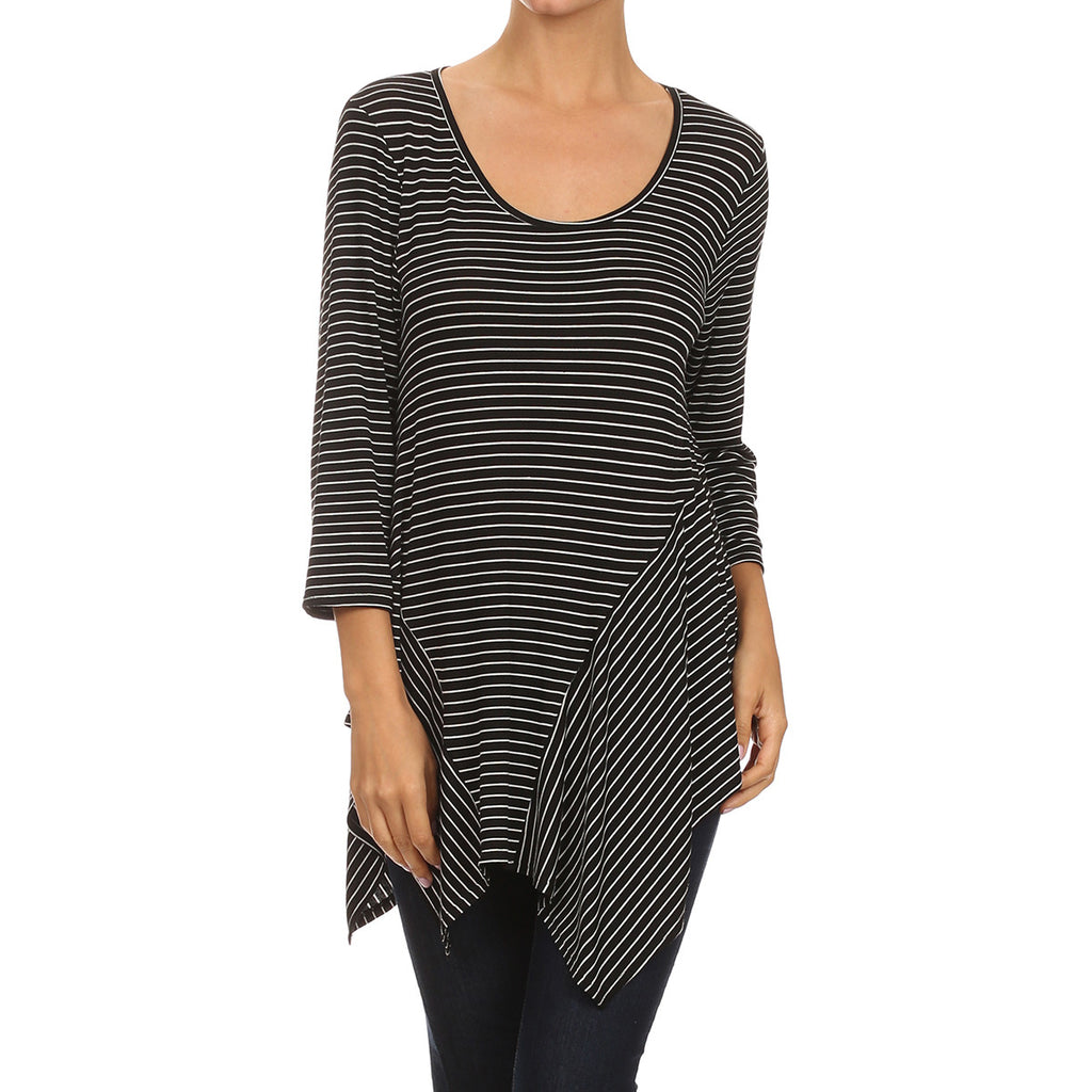Pin Stripe Modern Tunic