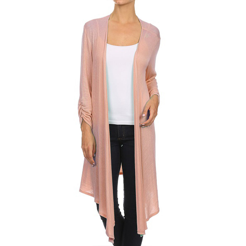 Light Weight spring Knit Long Cardigan
