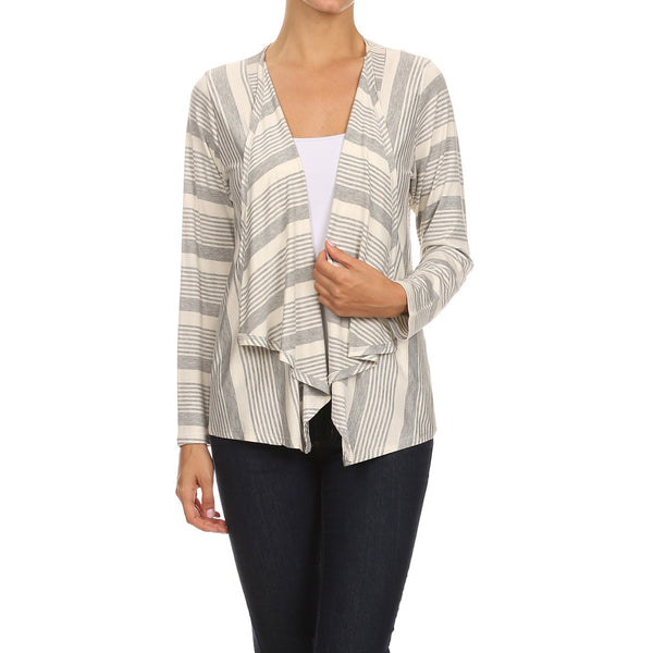 Variegated Stripe Cardigan