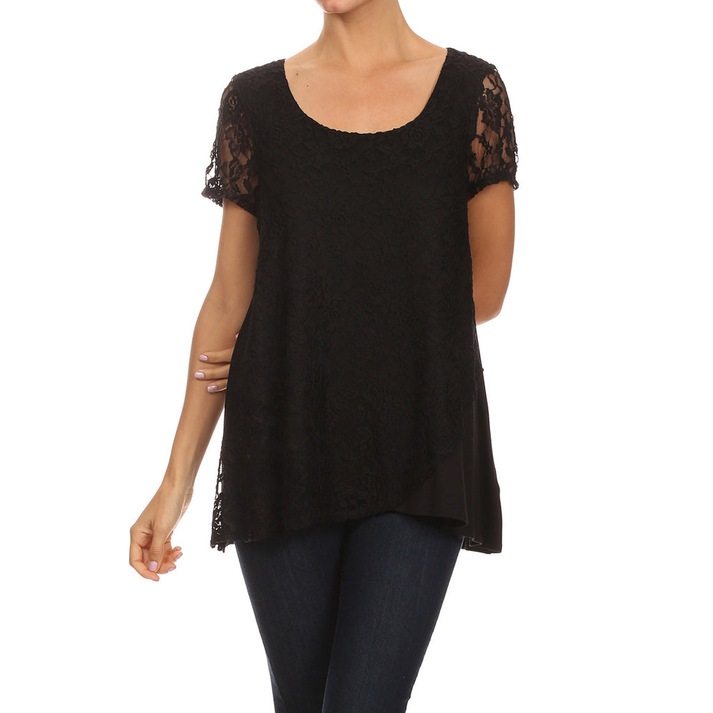 Lace Crisscross Tunic