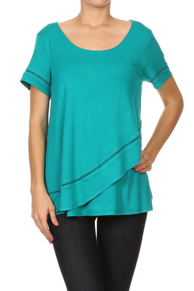 Edge Trimmed Surplus Tunic
