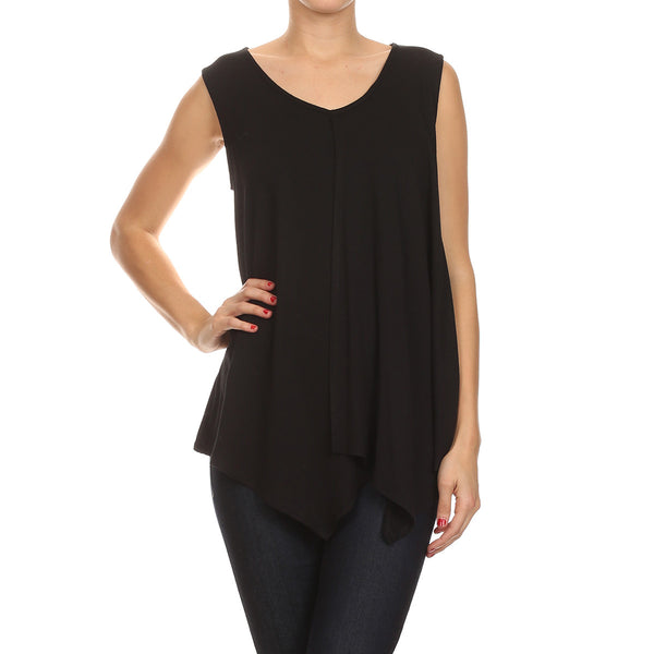 Crepe Knit Sleeveless Tunic