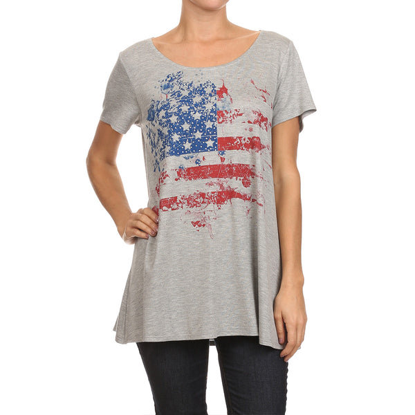 American Flag Art Top