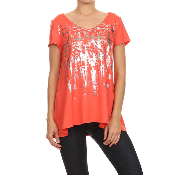 Abstract Foil Top