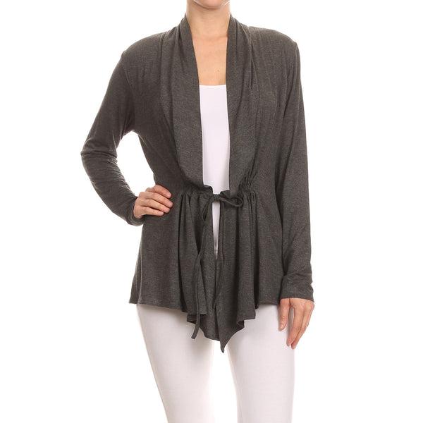 Tunnel Waist Essential Cardigan
