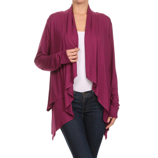 Layered Side Tail Cardigan