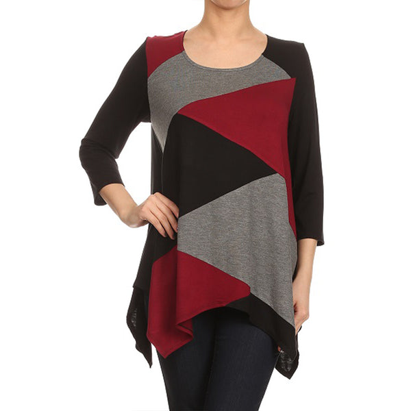 Tri-Tone Patch Front Tunic