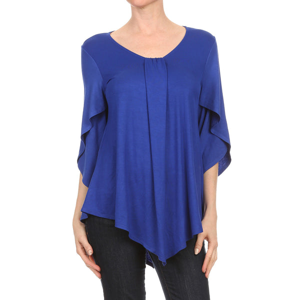 Crisscross Sleeve Blouse