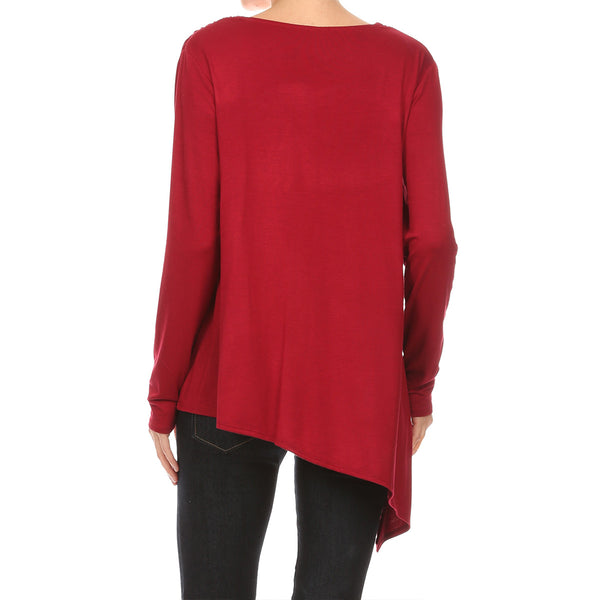Asymmetrical Zip Front Tunic