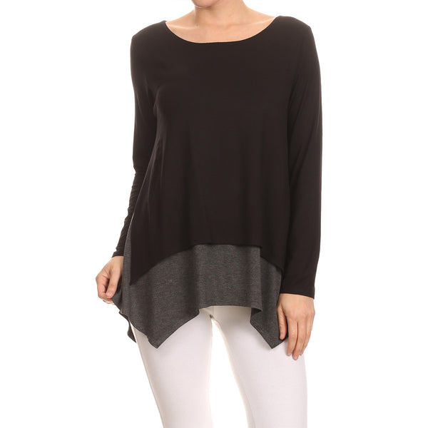 Split Side Contrast Overlay Top
