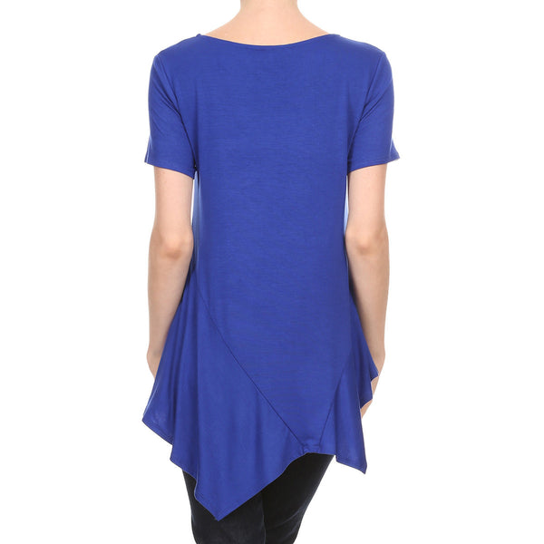 Short Sleeve A-symmetry Top