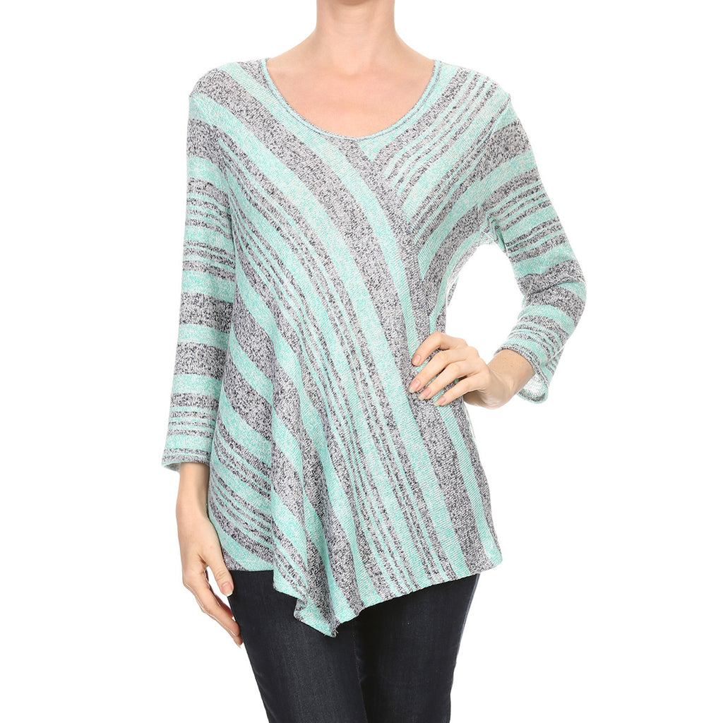 Intermingled Stripe Knit Tunic
