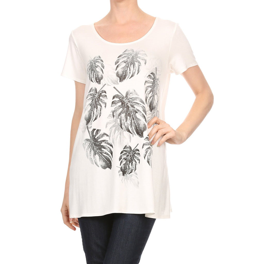 Sparkled leaves Top