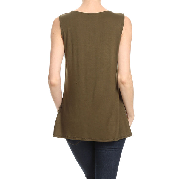 Pleated Front Tank