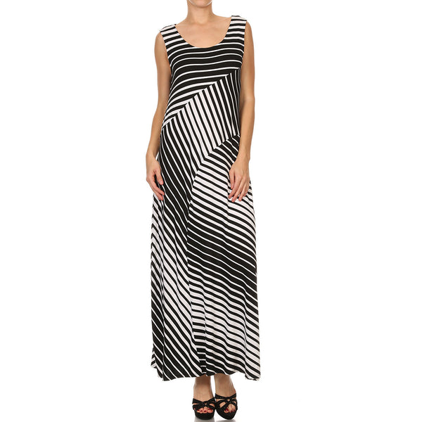 Engineered Stripe Maxi Dress