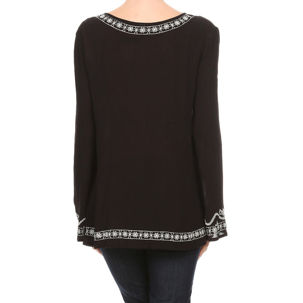 Embroidered Boho Woven Tunic