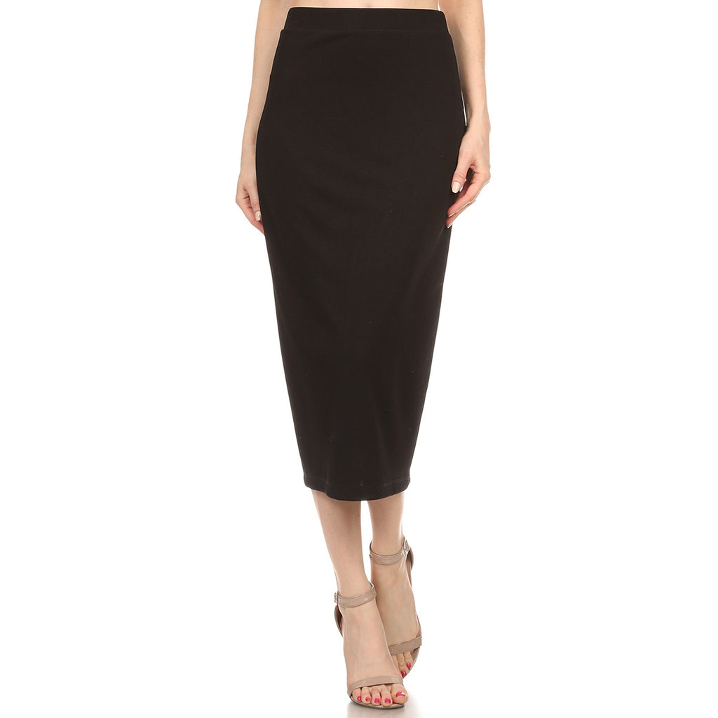 T. crepe Pencil Skirt
