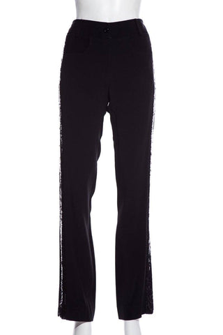 Valentino Black Sequin Accent Pants SZ 8