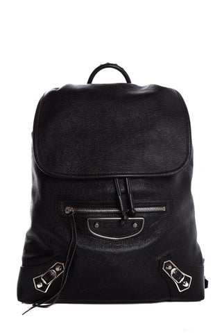 Balenciaga Black Leather Motocross Giant 12 S Traveler Backpack
