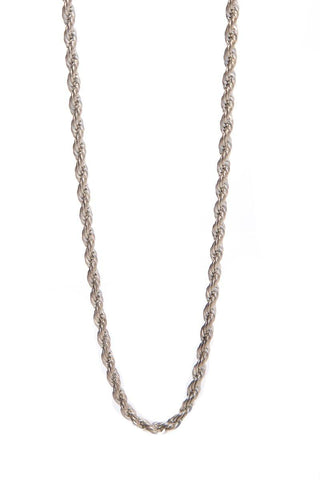 No Label Sterling Silver French Rope Necklace