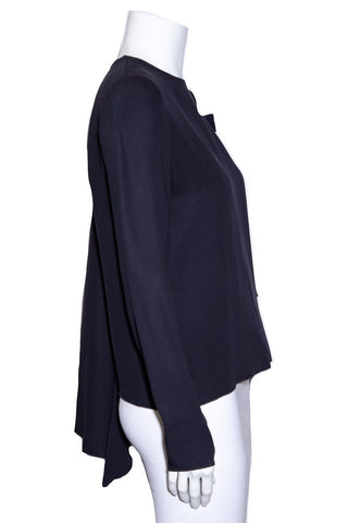 Tory Burch Navy Blouse SZ 4