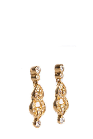 Christian Dior Gold Vintage Earrings