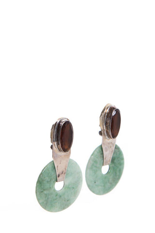 Rebecca Collins Vintage Sterling Silver Clip-On Earrings