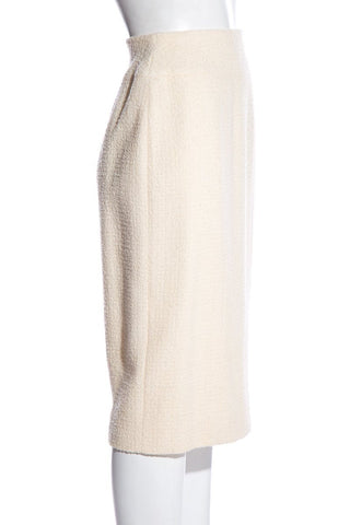 Chanel Vintage Cream Skirt SZ 34