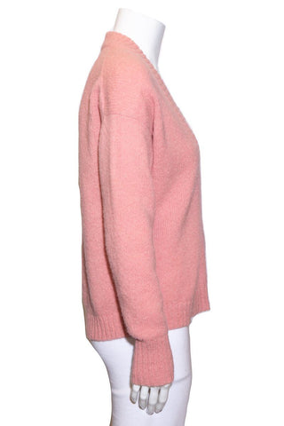 Tibi Pink V-Neck Sweater SZ XXS