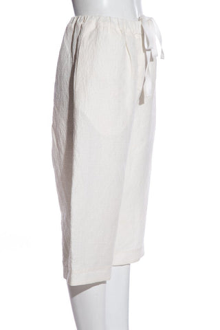 Adam Lippes White High Rise Wide-Leg Pants
