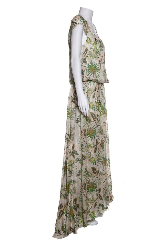 Adriana Iglesias Multi Color Plant Print 'Eden' Dress SZ 36 NWT
