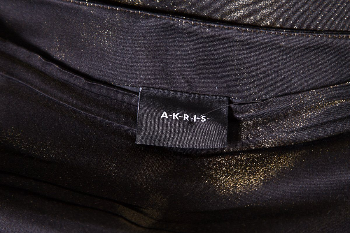Akris Metallic Skirt SZ 6 Sale