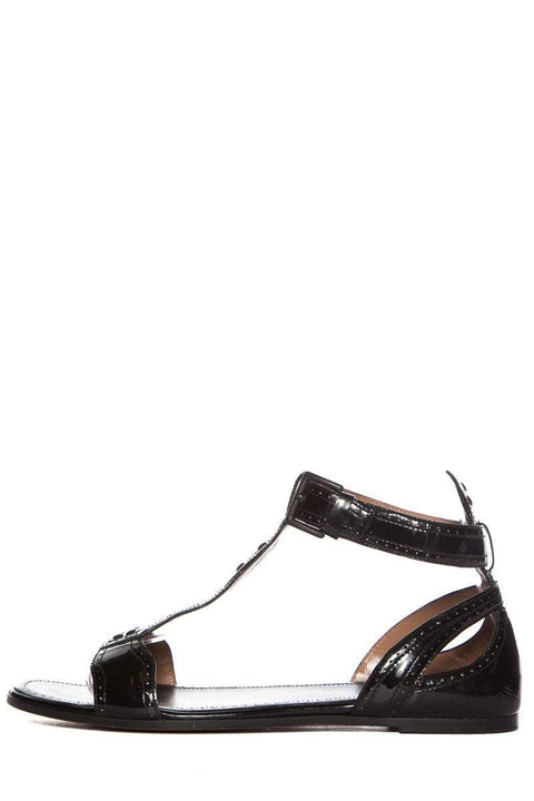 Alaïa Black Patent Leather T-Strap Sandal SZ 38