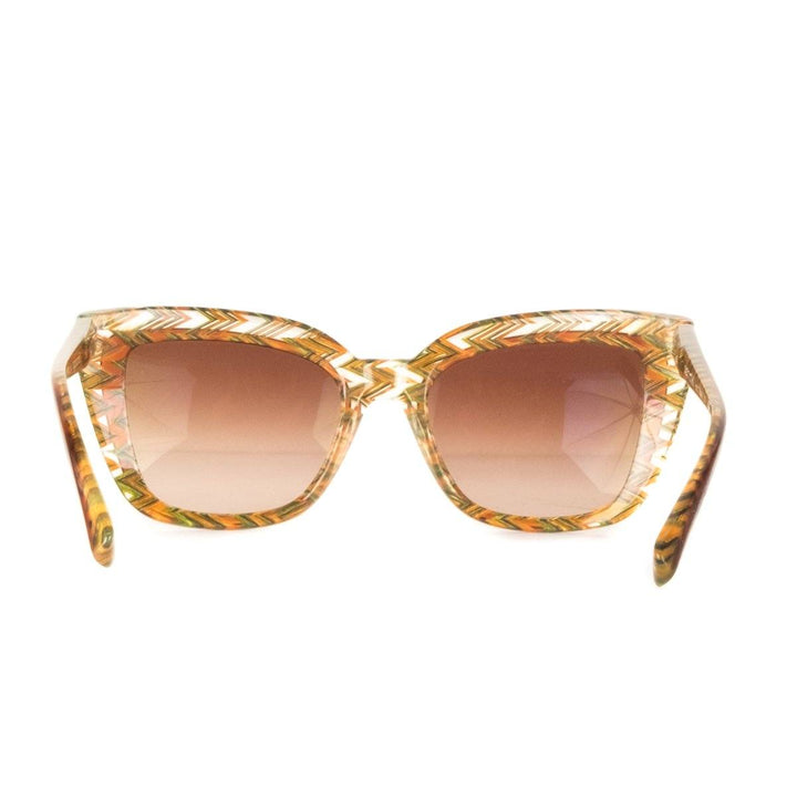 Alain Mikli Orange Chevron Print Sunglasses Sale